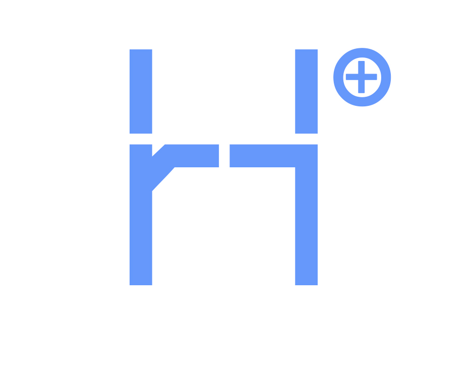 H+ logo on white